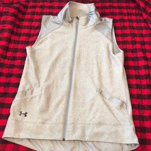 Used light grey UA fleece vest